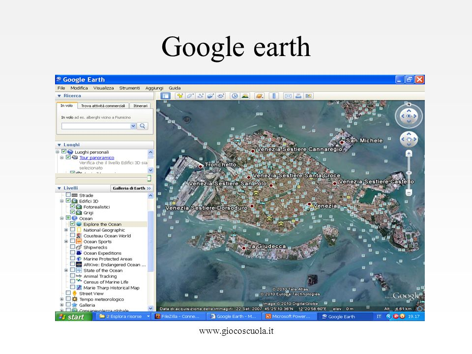 Google earth www.giocoscuola.it