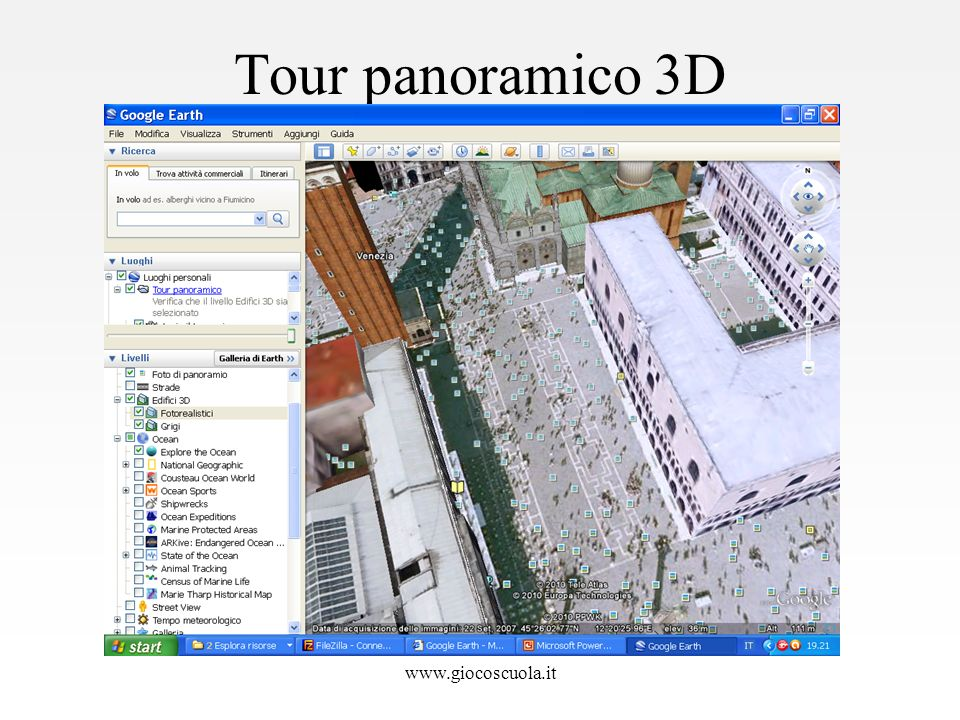 Tour panoramico 3D www.giocoscuola.it