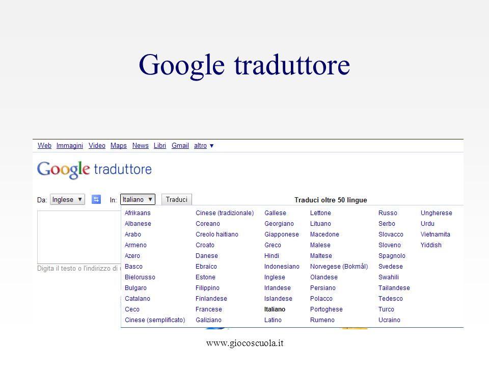 Google traduttore www.giocoscuola.it
