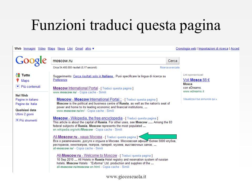 Funzioni traduci questa pagina