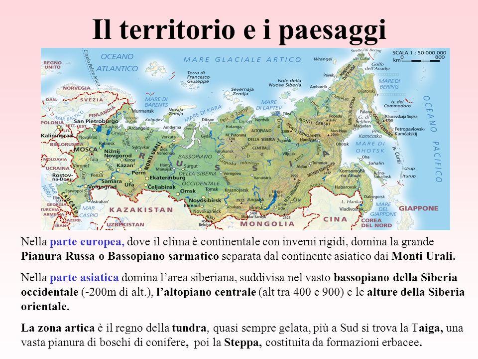 Il territorio e i paesaggi