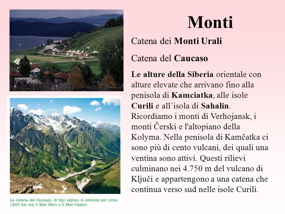 Monti Catena dei Monti Urali Catena del Caucaso