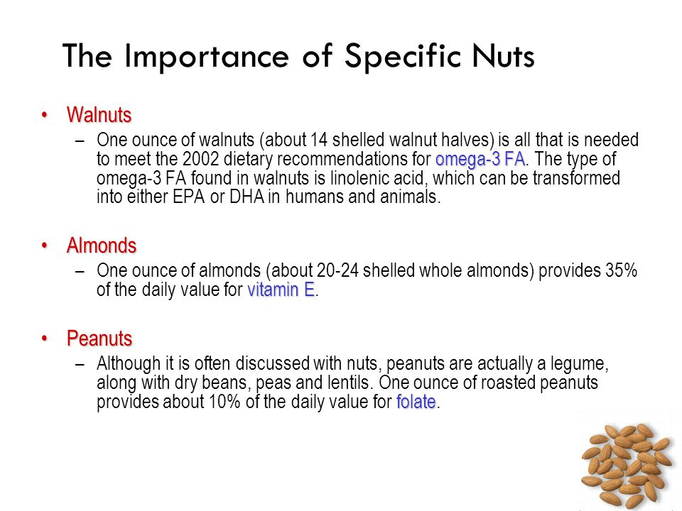 The Importance of Specific Nuts