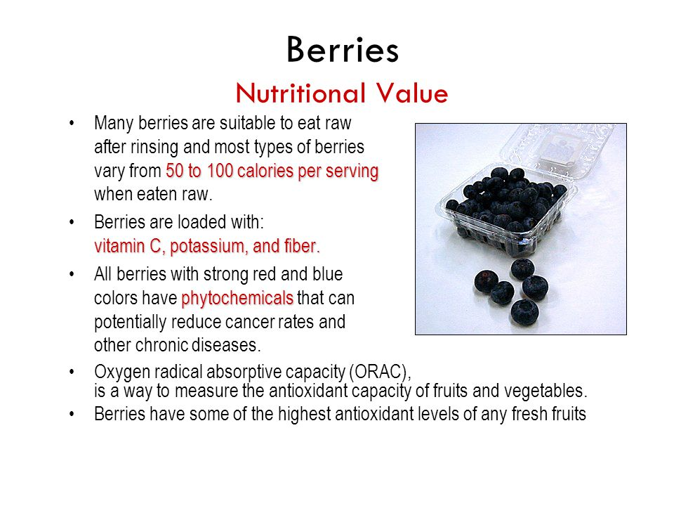 Berries Nutritional Value