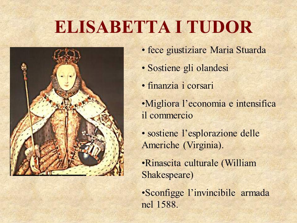 ELISABETTA I TUDOR fece giustiziare Maria Stuarda