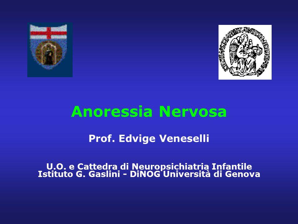 Anoressia Nervosa Prof. Edvige Veneselli U. O