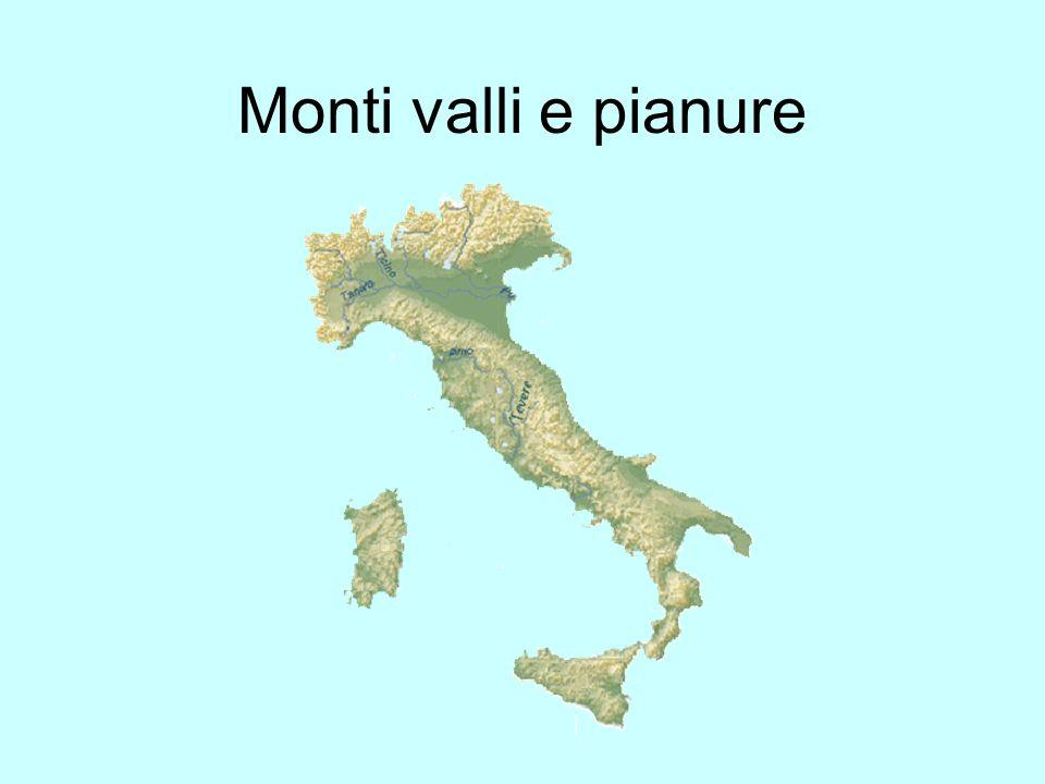 Monti valli e pianure