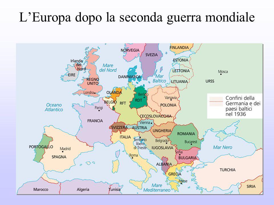L'Europa dopo la seconda guerra mondiale