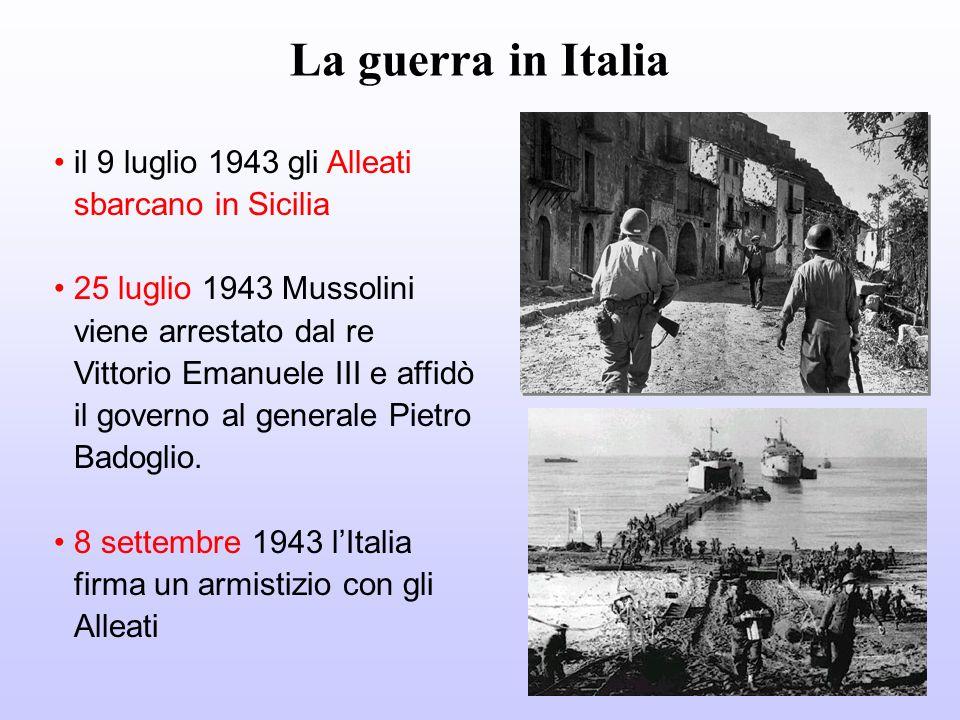 La guerra in Italia il 9 luglio 1943 gli Alleati sbarcano in Sicilia