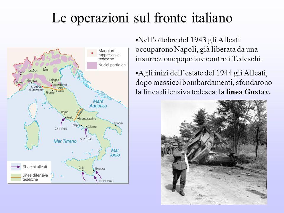 Le operazioni sul fronte italiano