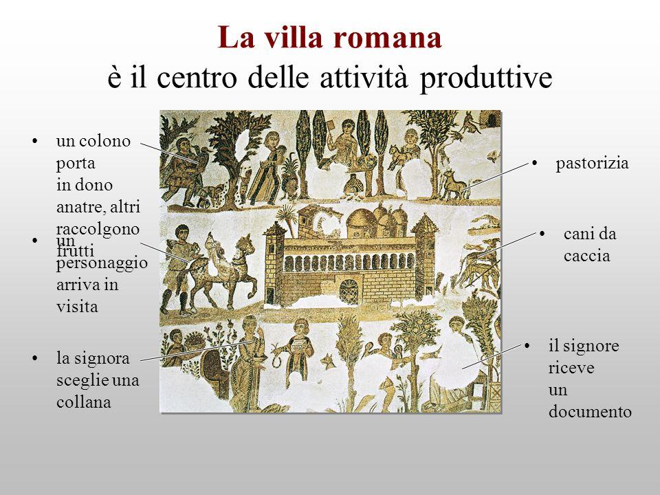 La villa romana è il centro delle attività produttive