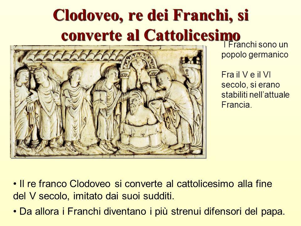 Clodoveo, re dei Franchi, si converte al Cattolicesimo