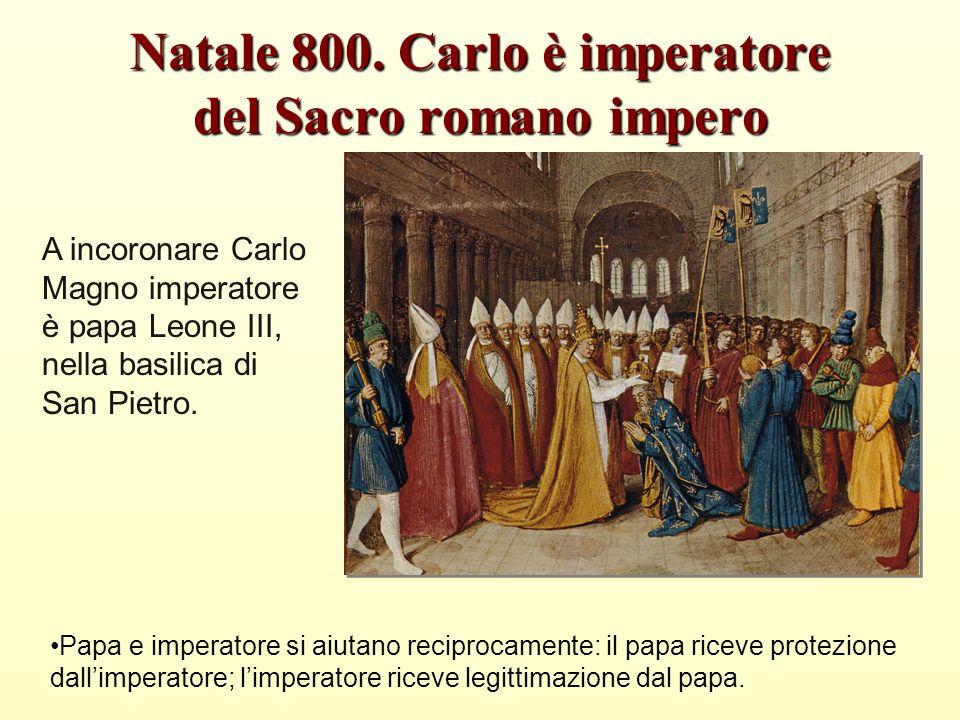 Natale 800. Carlo è imperatore del Sacro romano impero