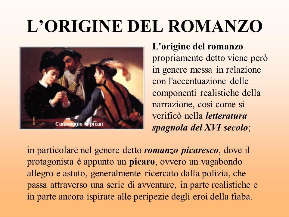 L'ORIGINE DEL ROMANZO