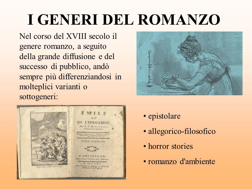 I GENERI DEL ROMANZO