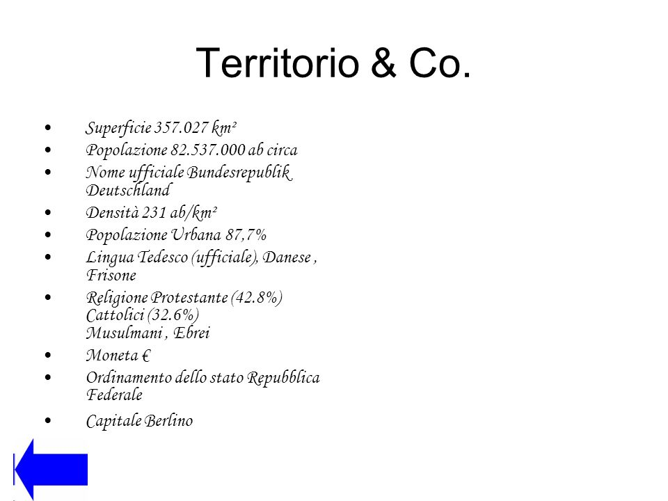 Territorio & Co. Superficie 357.027 km²