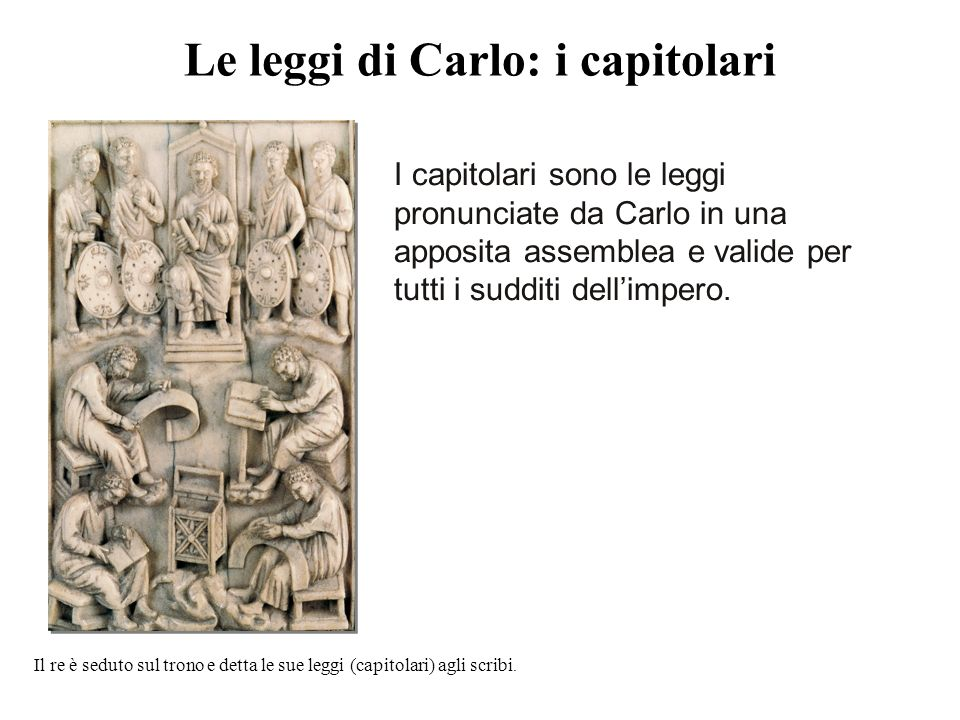 Le leggi di Carlo: i capitolari