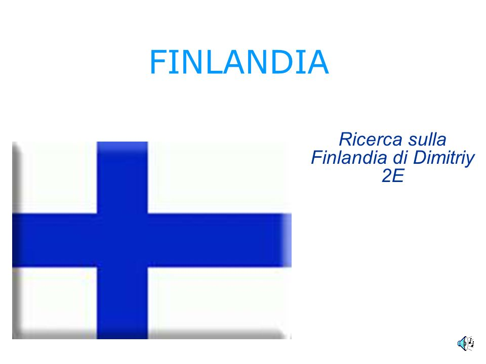 Ricerca sulla Finlandia di Dimitriy 2E