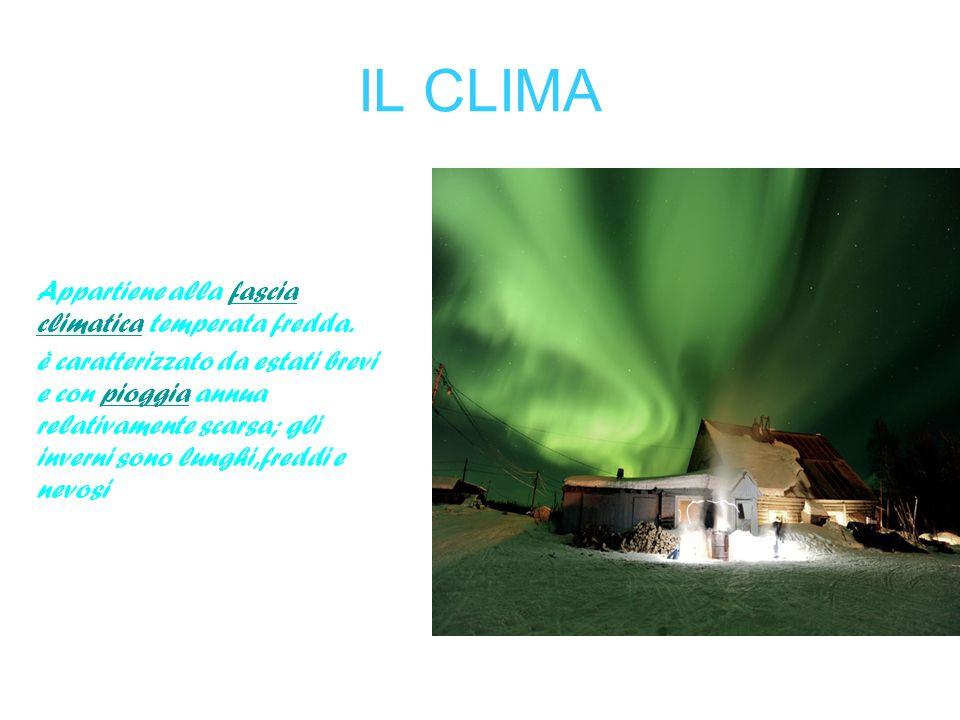 IL CLIMA Appartiene alla fascia climatica temperata fredda.