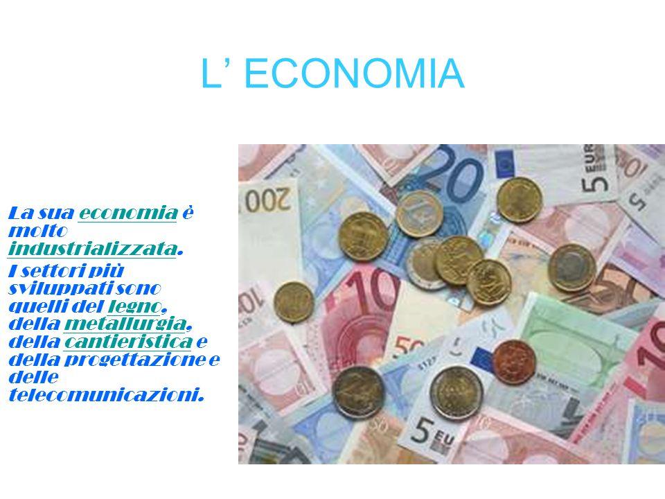 L' ECONOMIA La sua economia è molto industrializzata.