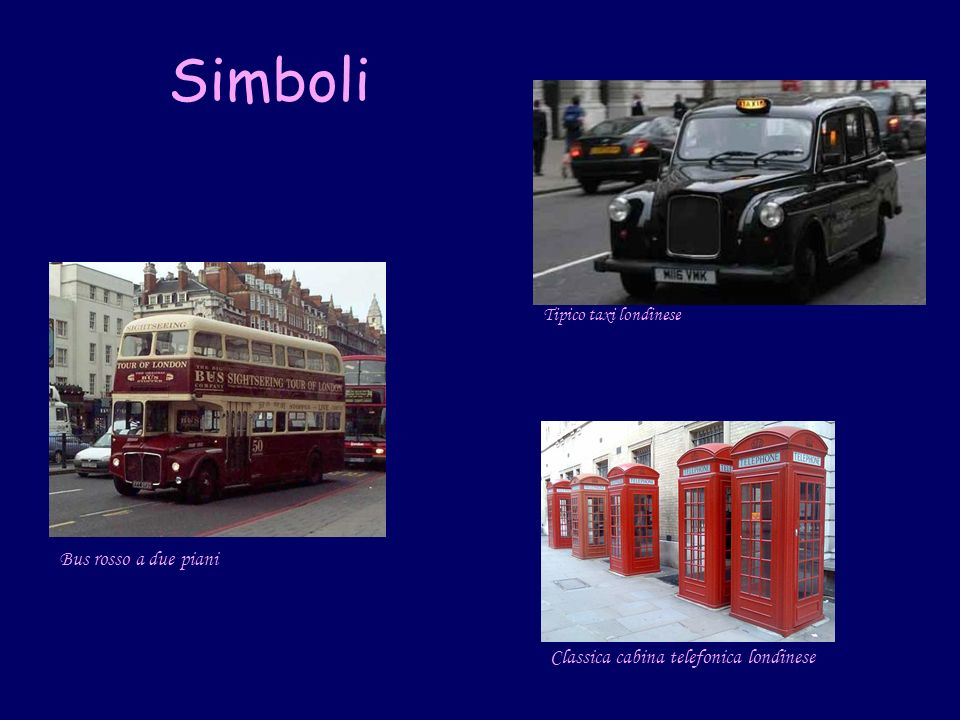 Simboli Bus rosso a due piani Classica cabina telefonica londinese