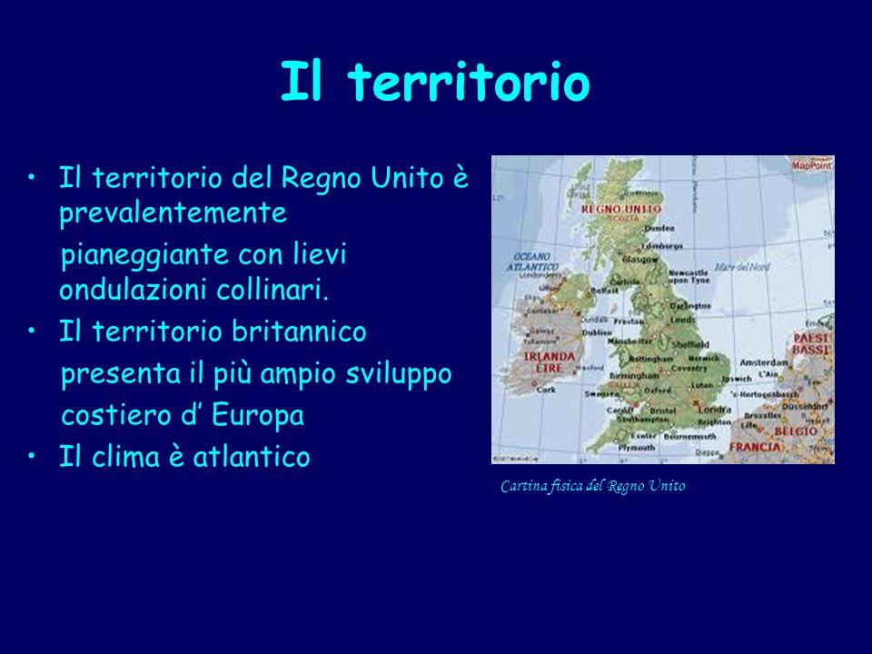 Il territorio Il territorio del Regno Unito è prevalentemente