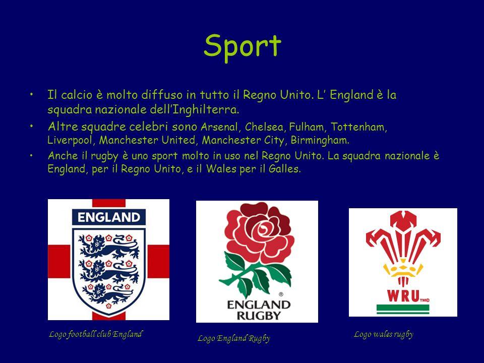 Sport Il calcio è molto diffuso in tutto il Regno Unito. L' England è la squadra nazionale dell'Inghilterra.