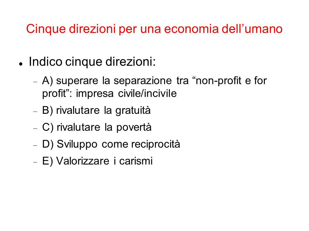 Cinque direzioni per una economia dell'umano