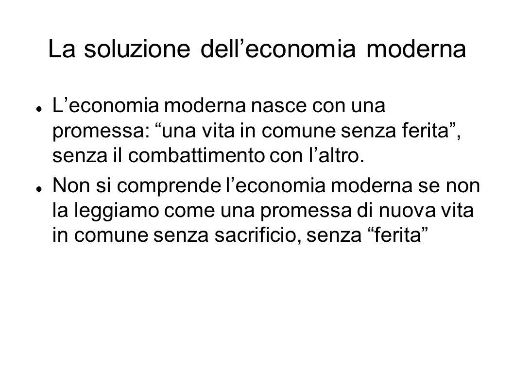 La soluzione dell'economia moderna