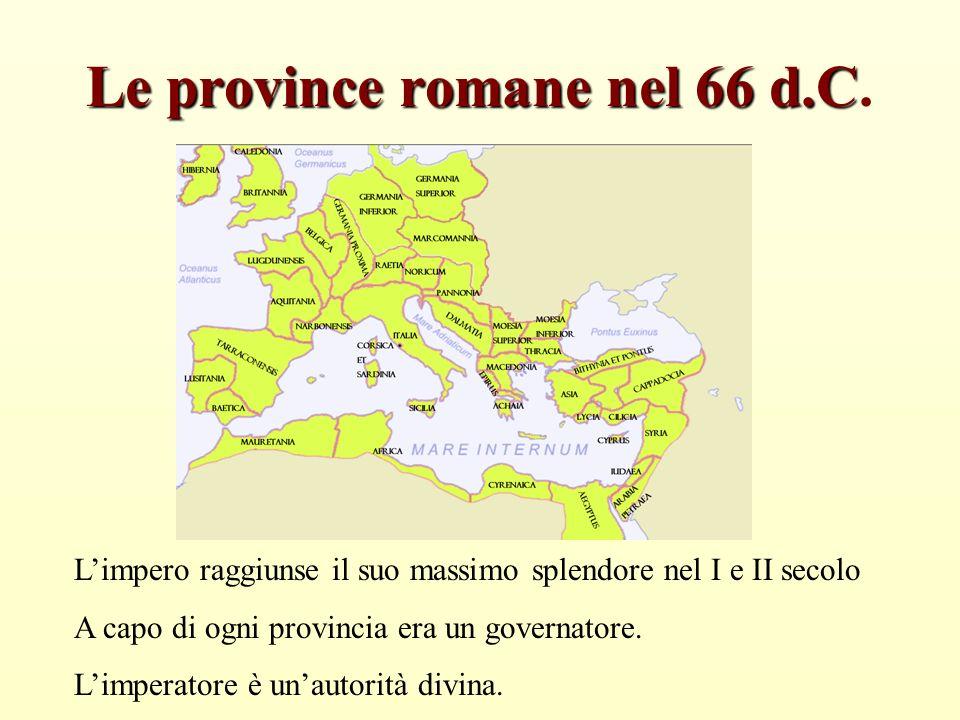 Le province romane nel 66 d.C.