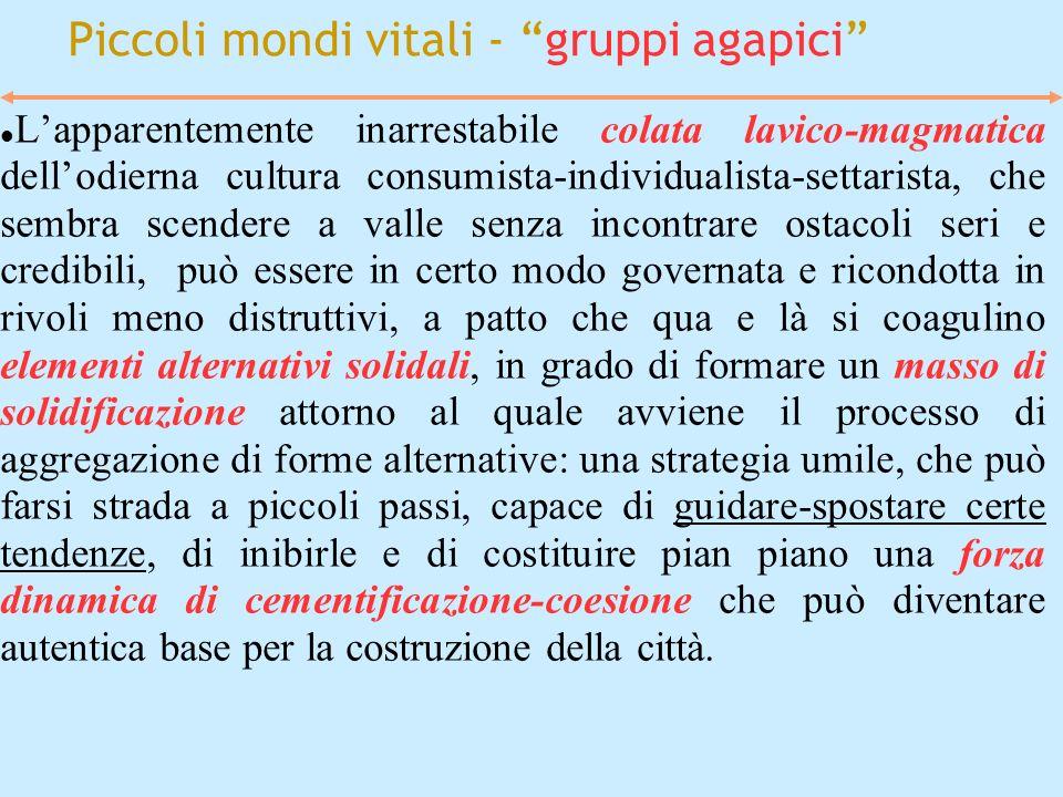 Piccoli mondi vitali - gruppi agapici