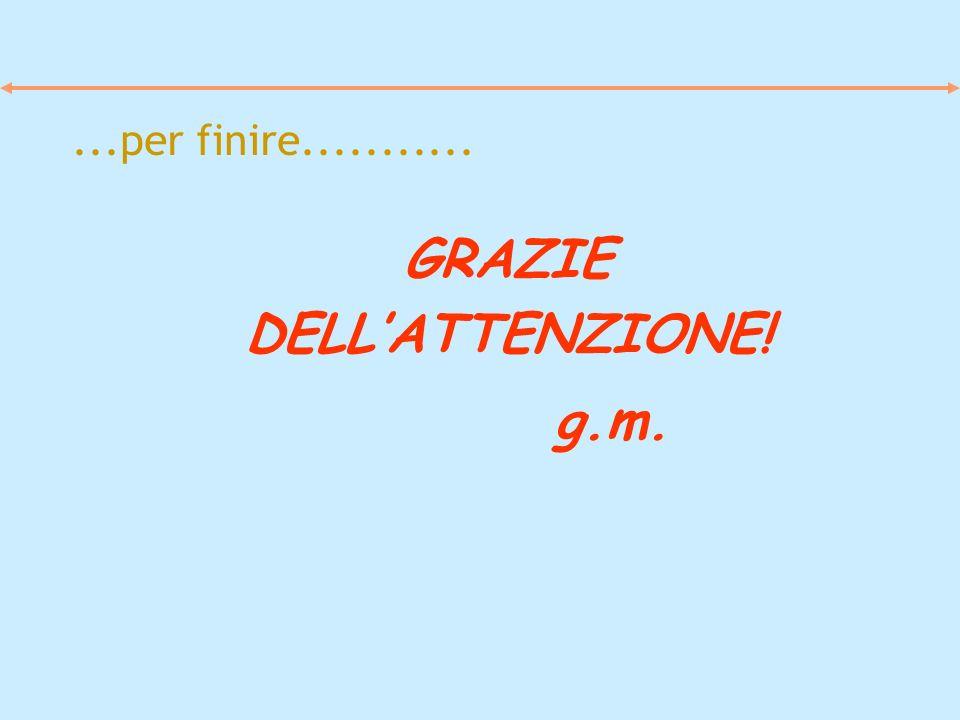 GRAZIE DELL'ATTENZIONE! g.m.
