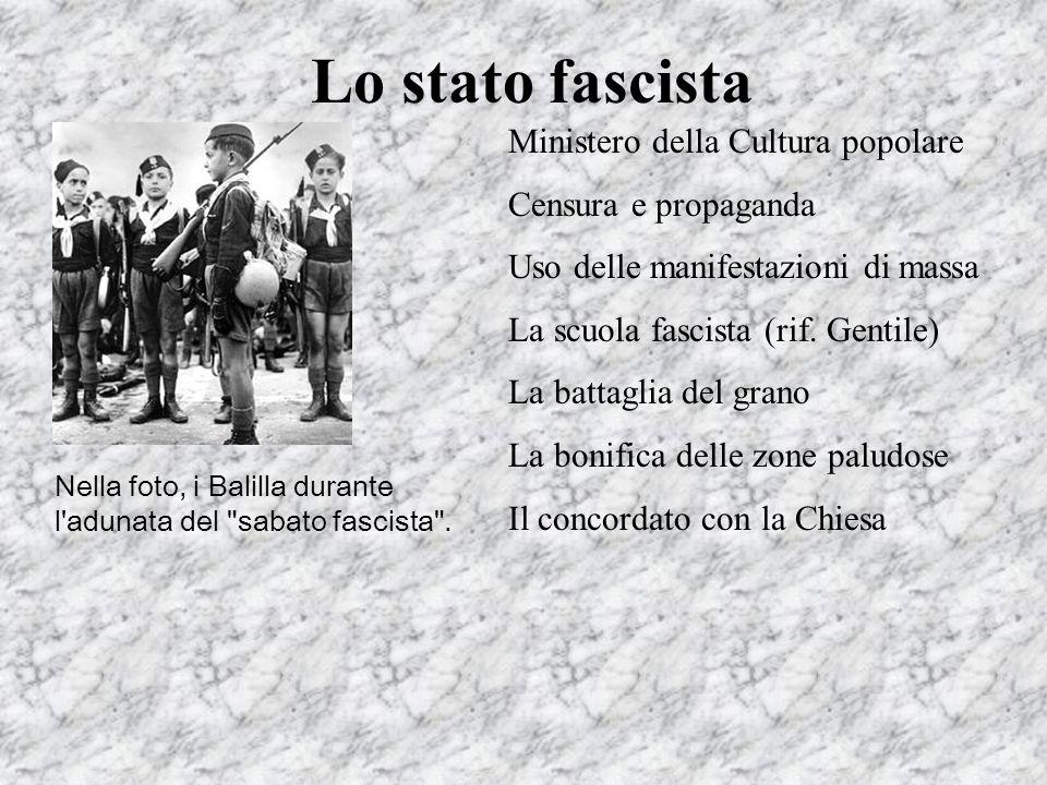 Lo stato fascista Ministero della Cultura popolare