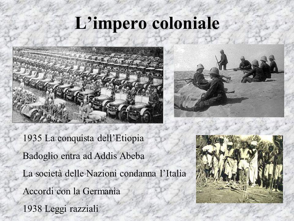 L'impero coloniale 1935 La conquista dell'Etiopia