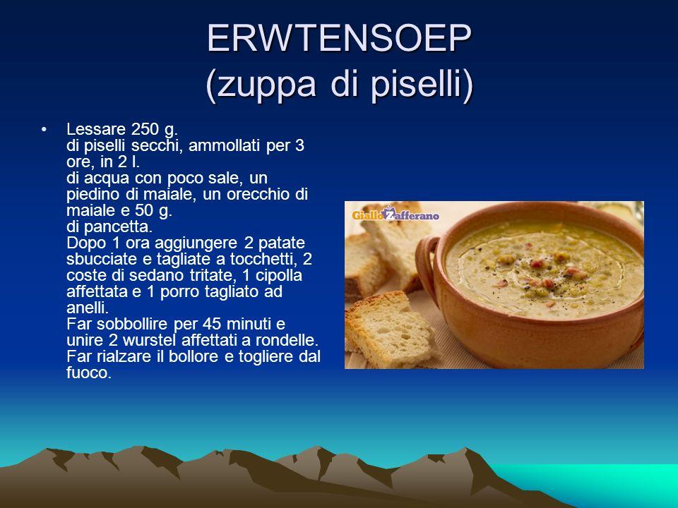 ERWTENSOEP (zuppa di piselli)