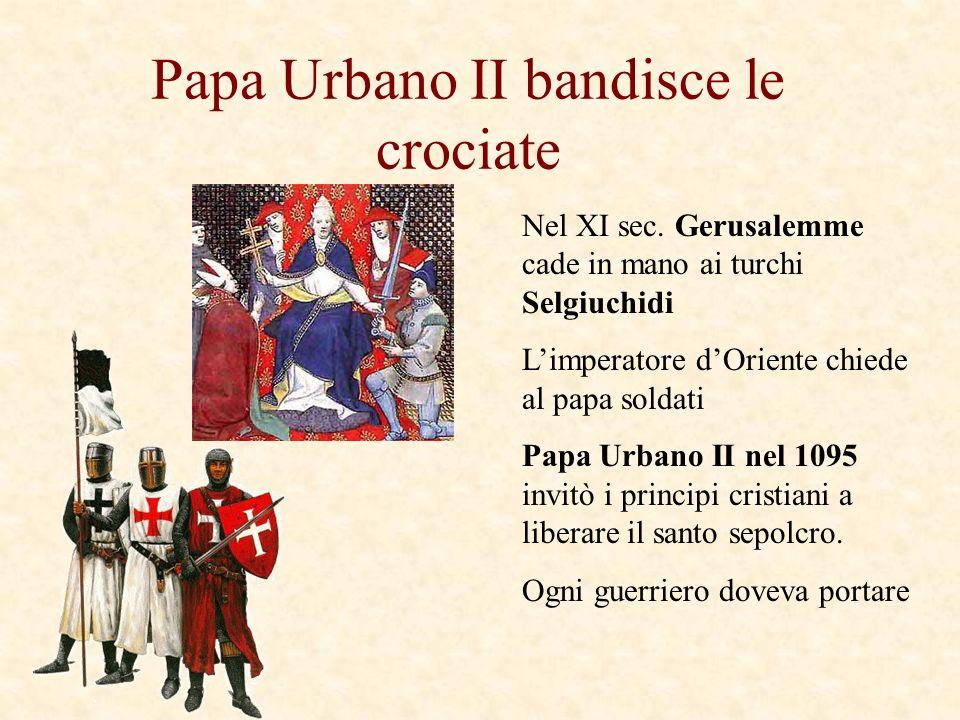 Papa Urbano II bandisce le crociate