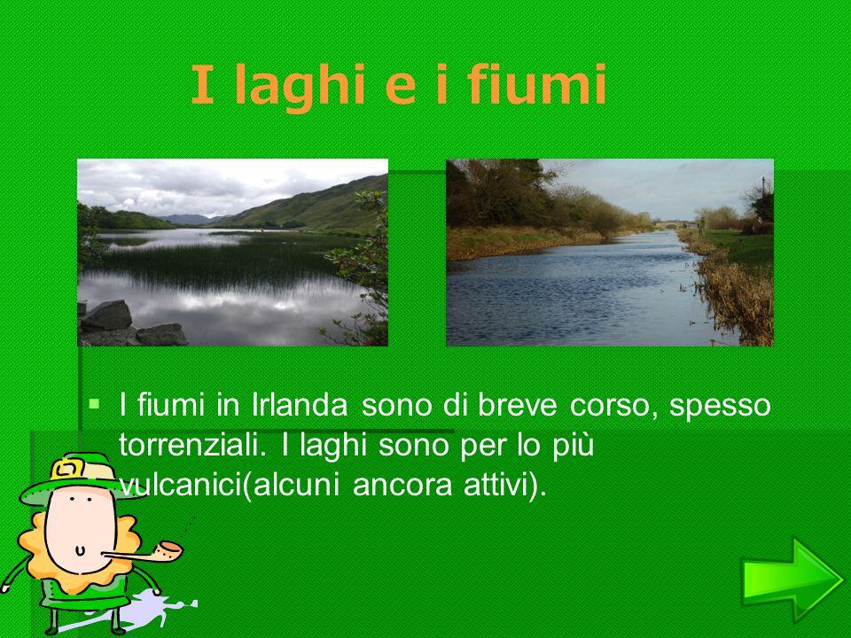 I laghi e i fiumi I fiumi in Irlanda sono di breve corso, spesso torrenziali.