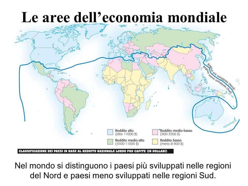 Le aree dell'economia mondiale