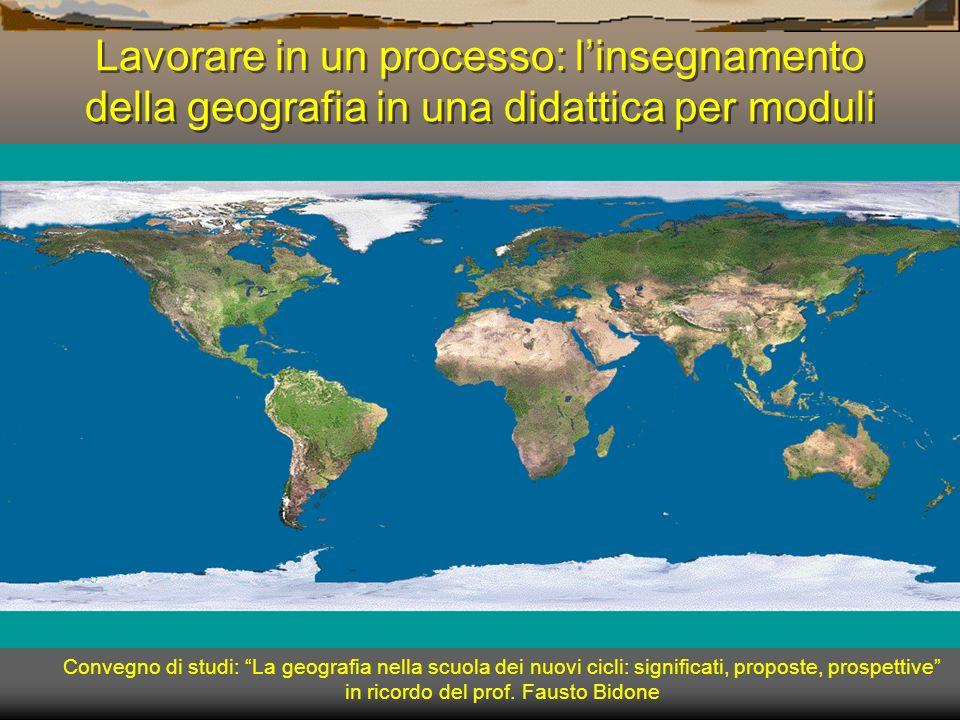 Lavorare in un processo: l'insegnamento della geografia in una didattica per moduli