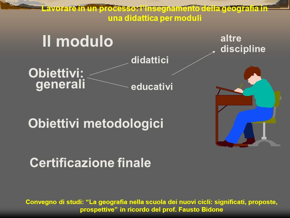 Obiettivi metodologici