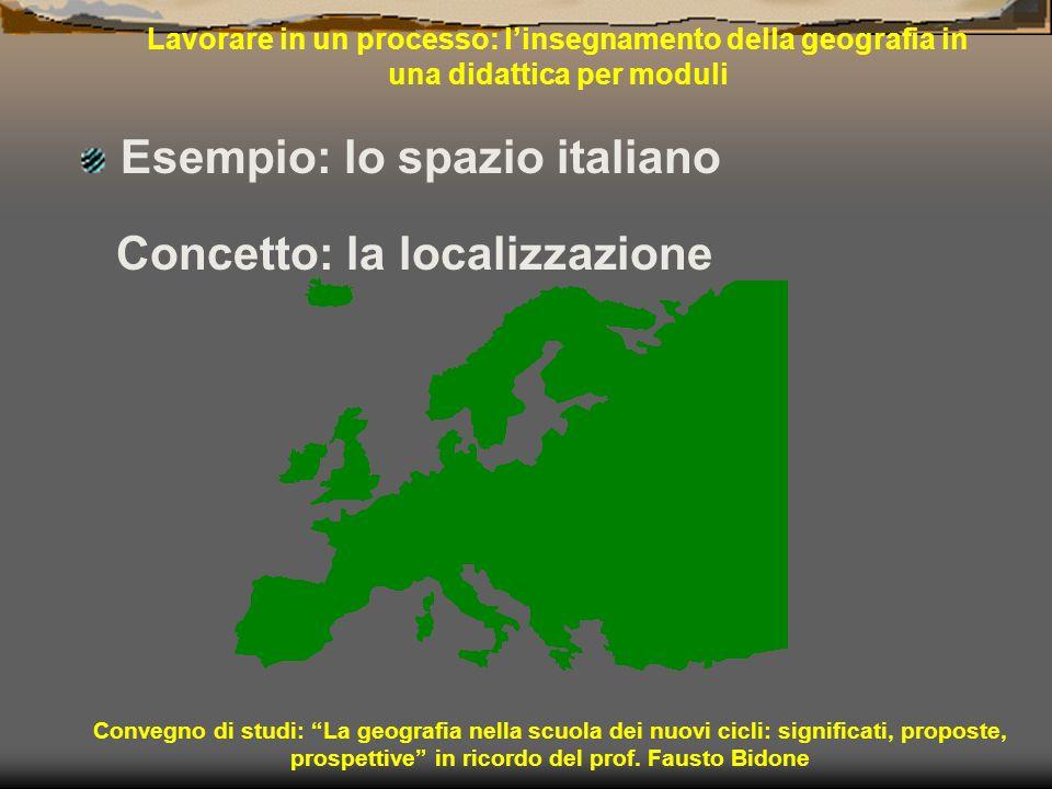 Esempio: lo spazio italiano