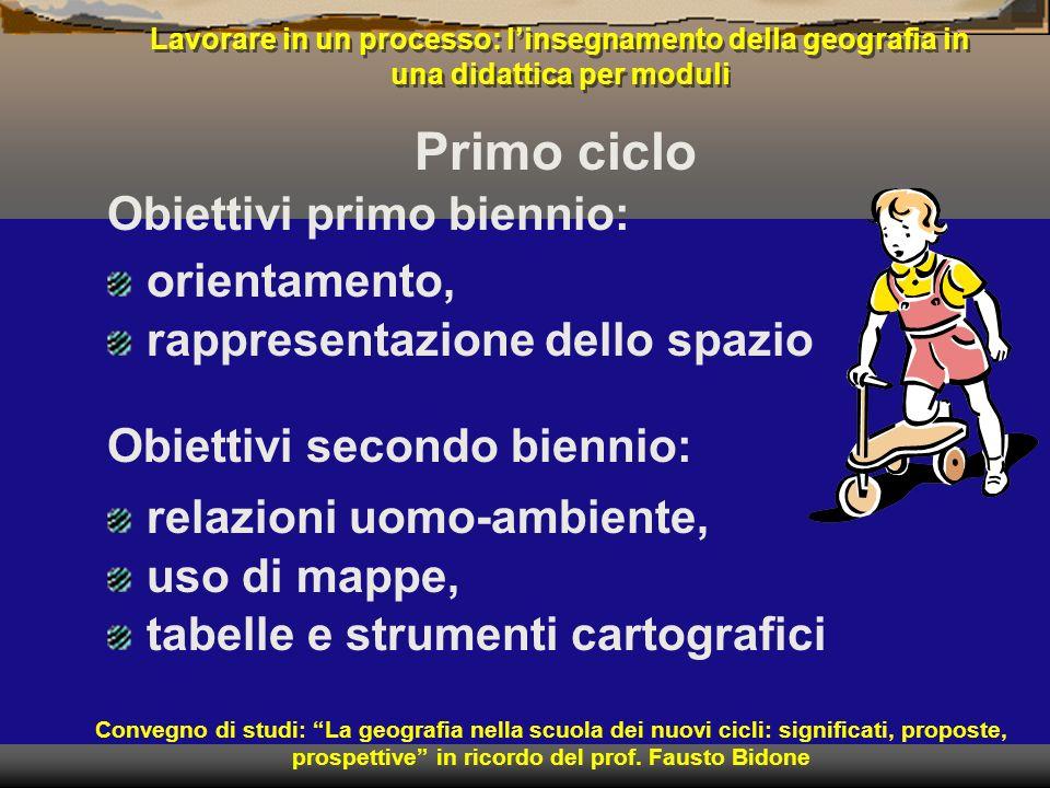 Obiettivi primo biennio: