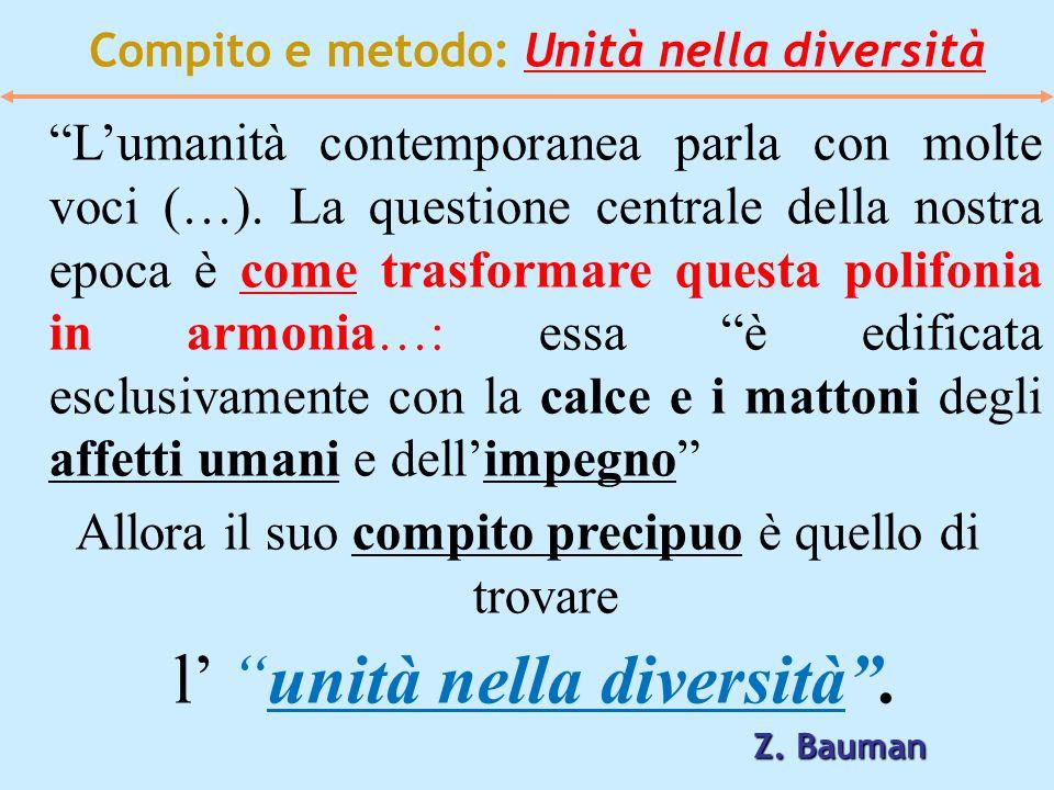 Compito e metodo: Unità nella diversità