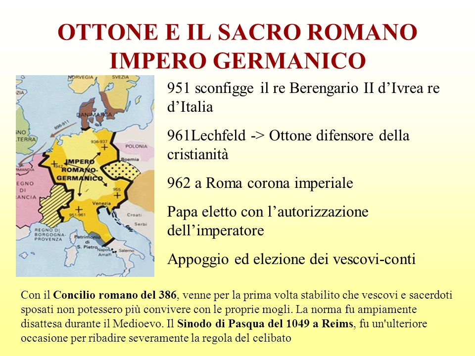 OTTONE E IL SACRO ROMANO IMPERO GERMANICO