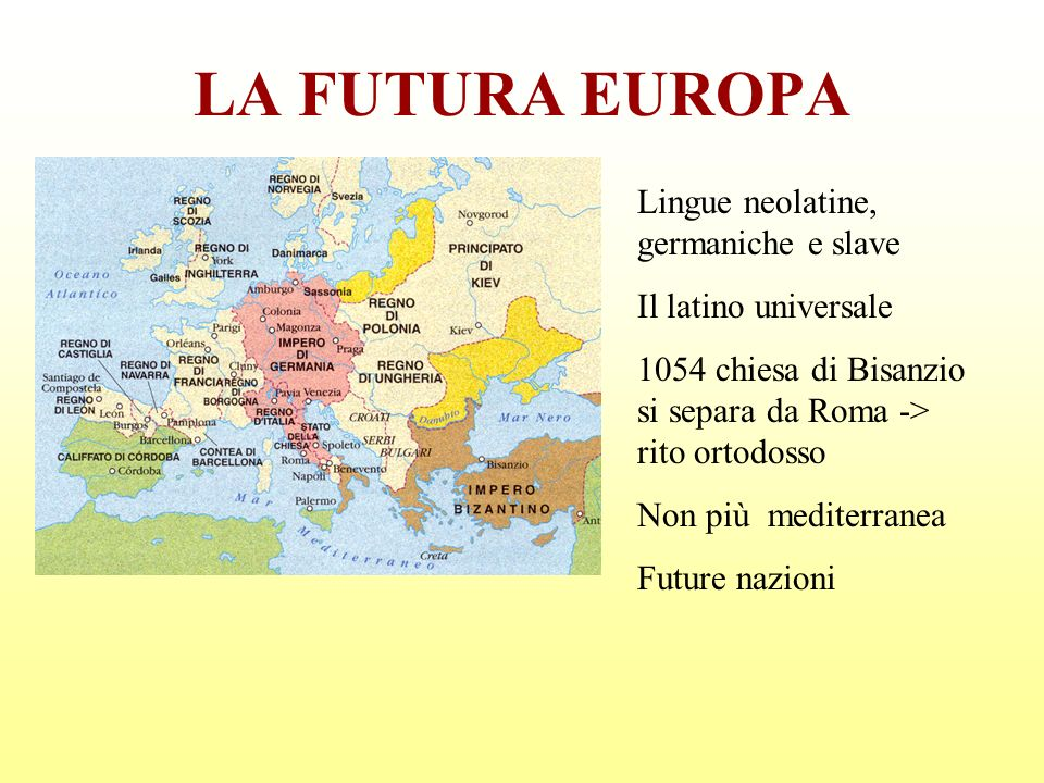 LA FUTURA EUROPA Lingue neolatine, germaniche e slave