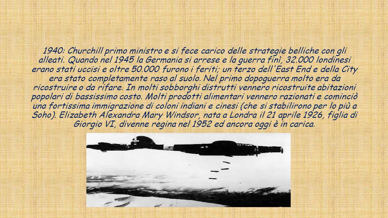 1940: Churchill primo ministro e si fece carico delle strategie belliche con gli alleati.
