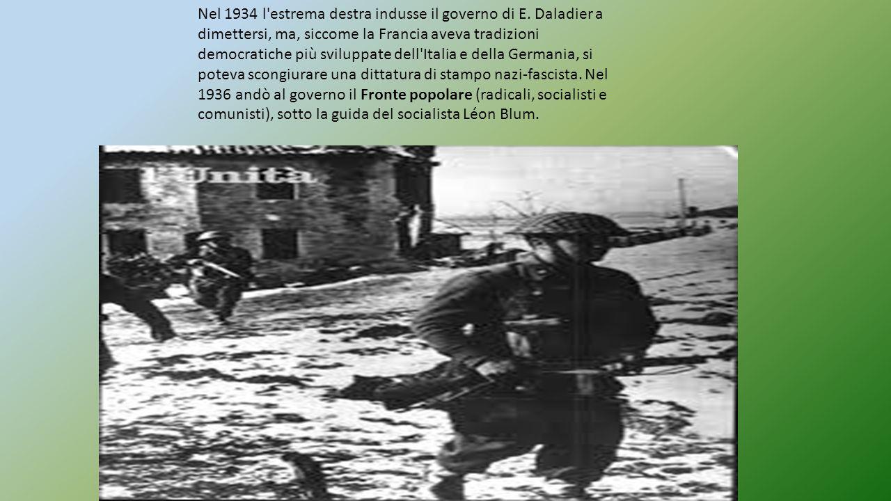 Nel 1934 l estrema destra indusse il governo di E