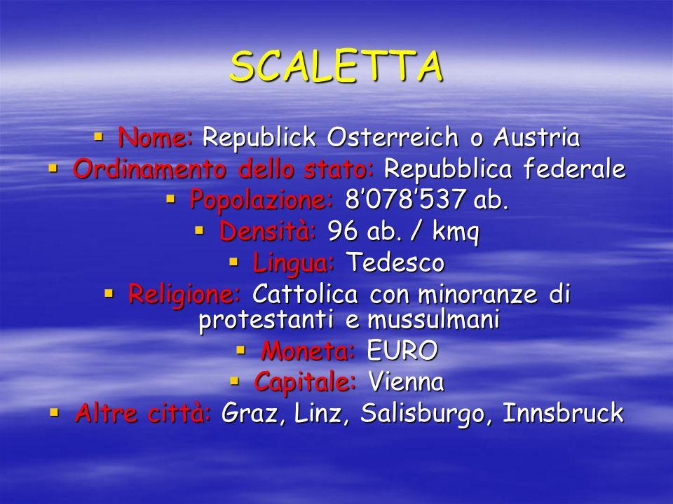 SCALETTA Nome: Republick Osterreich o Austria