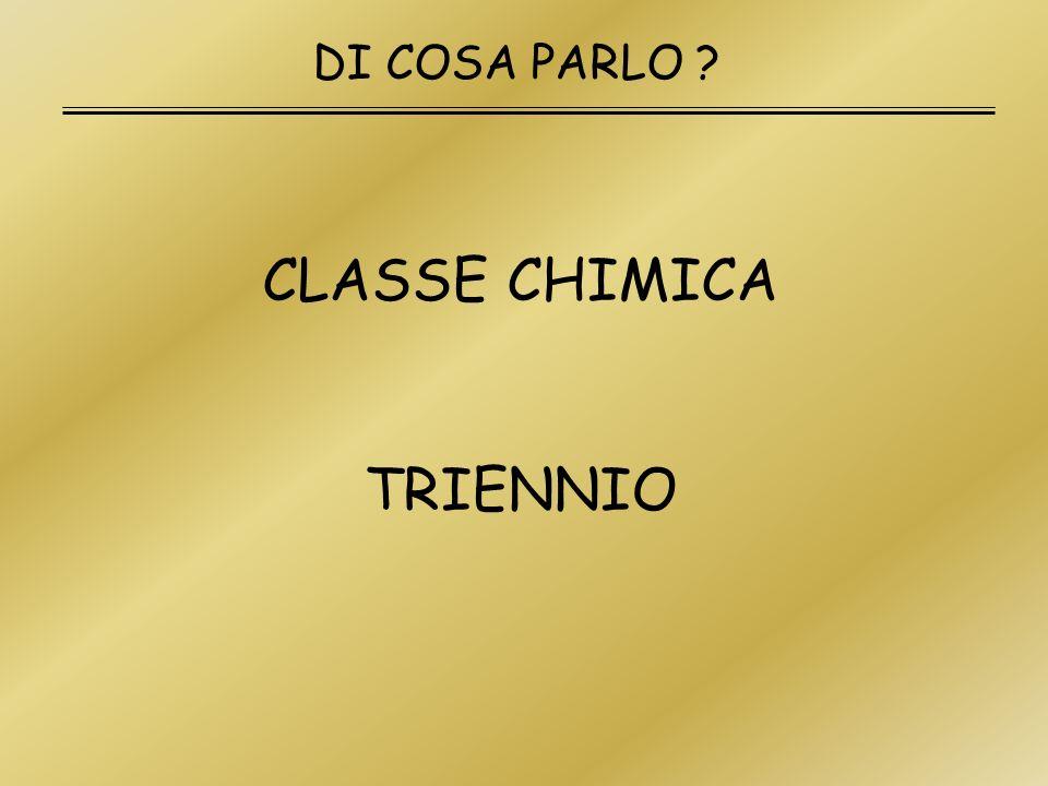 DI COSA PARLO CLASSE CHIMICA TRIENNIO