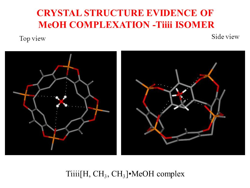 CRYSTAL STRUCTURE EVIDENCE OF MeOH COMPLEXATION -Tiiii ISOMER